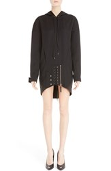 Anthony Vaccarello Women's Hooded Wool Corset Dress