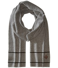Cole Haan Stripe Border Muffler Heather Grey Black Scarves Gray