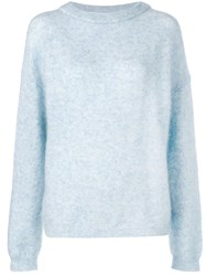 Acne Studios Dramatic Oversized Sweater Blue