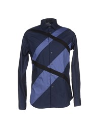 Alessandro Dell'acqua Shirts Shirts Men Dark Blue
