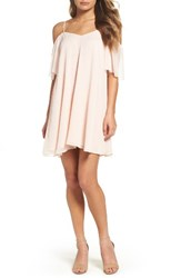 French Connection Women's Constance Cold Shoulder Dress Pink Opal