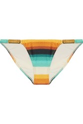 Vix Swimwear Low Rise Embellished Degrade Bikini Briefs Multi