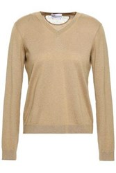 Red Valentino Redvalentino Woman Cashmere And Silk Blend Sweater Sand