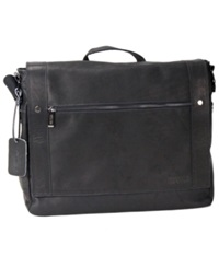 Kenneth Cole Reaction Colombian Leather Messenger Bag Black