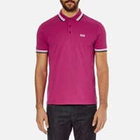 Hugo Boss Green Men's Paddy Polo Shirt Bright Pink