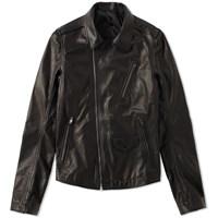 Rick Owens Stooges Smooth Leather Jacket Black