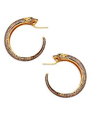 Azaara 22K Yellow Gold Leopard Earrings