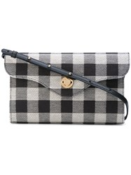 Mansur Gavriel Checked Shoulder Bag Women Cotton Leather One Size Black