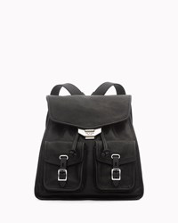Rag And Bone Field Leather Small Backpack Black