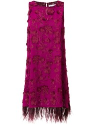 Ainea Sleeveless Embroidered Dress Pink And Purple