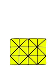 Issey Miyake Lucent Two Tone Card Holder Yellow Multi