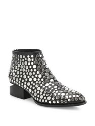 Alexander Wang Kori Tilt Heel Studded Leather Oxford Booties Black