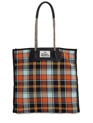 Vivienne Westwood Elena Cotton Canvas Tote Bag Multicolor