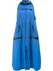 Paco Rabanne Hooded Dress Women Cotton Nylon Polyurethane Spandex Elastane 36 Blue