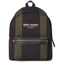 Saint Laurent Canvas Logo Backpack Black