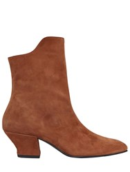 Dorateymur 50Mm Han Suede Ankle Boots Tan