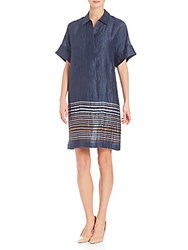 David Meister Adriatic Striped Mitra Dress Bateau Blue
