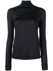 Joseph Roll Neck Top Black