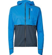 On Weather Colour Block Micro Ripstop Hooded Jacket Bright Blue