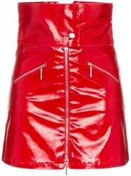 Adam Selman Aslmn Foldover Skrt Hw Zip Up Mini Red