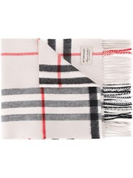 Burberry Classic Pattern Scarf White