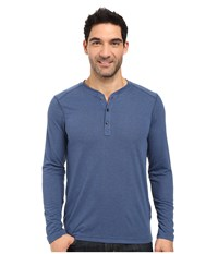 The North Face Long Sleeve Crag Henley Shady Blue Light Heather Men's Clothing