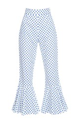 Anna October High Rise Cropped Flare Trouser Print