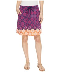 Hatley Christine Skirt Pink Compass Roses Multi