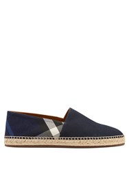 Burberry Pateman House Check Canvas Espadrilles Navy Multi