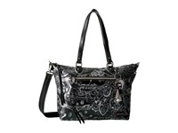 Sakroots Artist Circle City Satchel Metallic Songbird Satchel Handbags Black