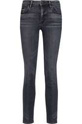 Helmut Lang Mid Rise Skinny Jeans Gray