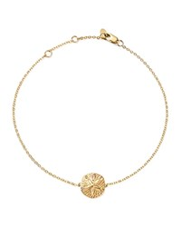 Bloomingdale's 14K Yellow Gold Sand Dollar Ankle Bracelet 100 Exclusive