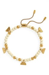 Madewell Beaded Chain Bracelet Pale Parchment
