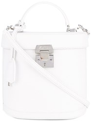 Mark Cross Benchley Tote Women Leather One Size White