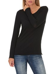 Betty And Co. Long Sleeved T Shirt Black