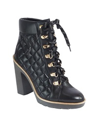 Kate Spade Gianna Quilted Booties Black