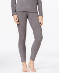 Cuddl Duds Fleecewear Leggings Charcoal Heather