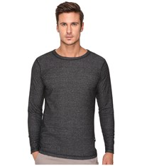 Publish Kamari Heathered Terry Long Sleeve With Overlock Stitching Throughout Charcoal Men's Clothing Gray