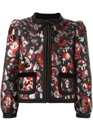 Marc Jacobs Warped Flower Sequin Jacket Multicolour