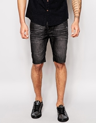 Religion Noize Skinny Fit Washed Black Denim Shorts Sterrowashedblack