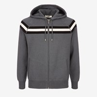 Bally Lounge Hoodie With Stripe Grey