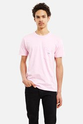 Body High Samo Lips Embroidered Pocket Tee Pink