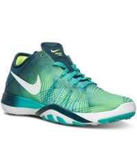 Nike Women's Free Tr 6 Print Training Sneakers From Finish Line Clear Jade White Midnight
