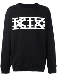 Ktz Lace Up Detailing Sweatshirt Black