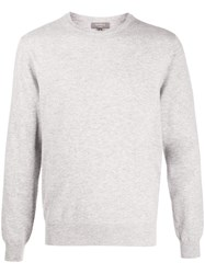 N.Peal The Oxford 1Ply Jumper Grey