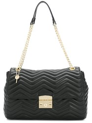 Twin Set Quilted Chain Tote Women Leather One Size Black