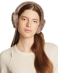 Ugg Classic Shearling Sheepskin Earmuffs With Wired Headphones Stormy Gray