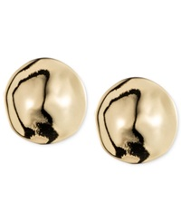 Jones New York Gold Tone Button Earrings