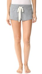 Eberjey Heather Pj Shorts Heather Grey