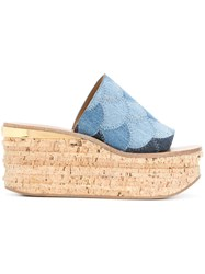 Chloe Camille Wedges Blue